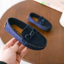 цена на ULKNN Toddle Baby Shoes Kids Flat Children Shoes Boys Soft Velvet Casual Girls Loafers Shoe Classic School Peas Shoe 2018 Spring