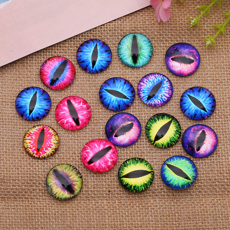 20pcs Multi Size Hot Round Pattern Glass Cabochon Diy