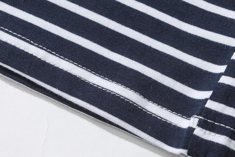 Dark Icon Rose Embroidery Striped Mens T-shirt Short Sleeve 19 Summer Hi-street Oversized Hip Hop Tshirt Cotton Tee Shirts 18