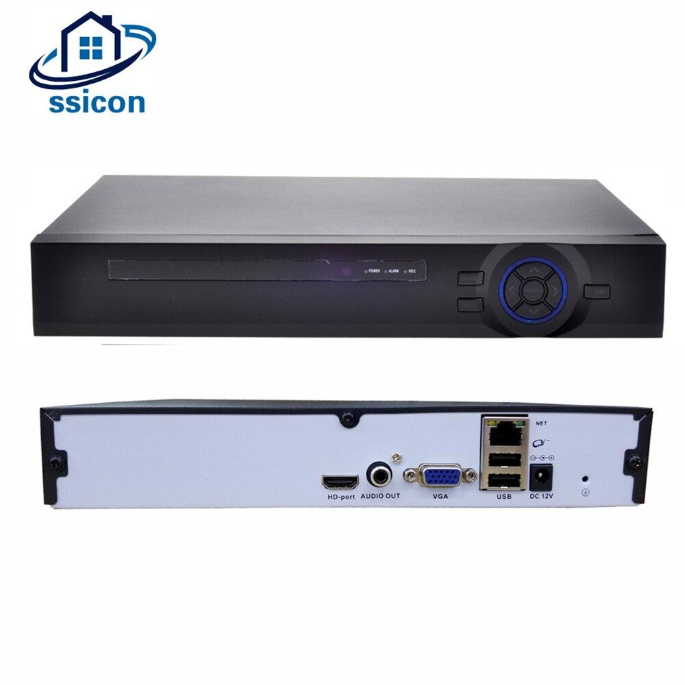 SSICON H.265 8CH * 4MP/4CH * 5MP 4K 4 NVR Câmera de Rede Megapixel Detecção de Movimento Gravador de Vídeo XMEYE APP P2P HDMI VGA CCTV NVR ONVIF
