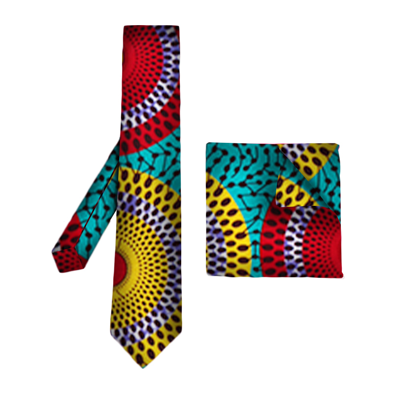 2019 African Print Tie For Men Bohemia African Cotton Print Fabric Gifts For Men African Traditional Men Fake Collar WYb309