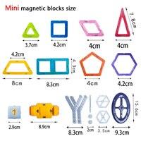 64-252 шт. мини магнитный конструктор набор модель строительные и строительство игрушки пластик магнитных блоков развивающие игрушки для детей подарок