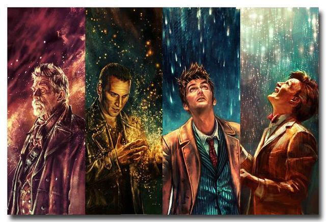 Шелковый плакат гобелен Доктор Кто