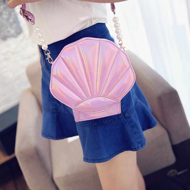 Sweet Women Crossbody Bags Shell Shape Shoulder Messenger Bag Cute Lovely Style