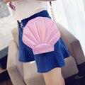 Sweet Women Crossbody Bags Shell Shape Shoulder Messenger Bag Cute Lovely Style PU Leather Lady Handbags Small Bolsa Feminine
