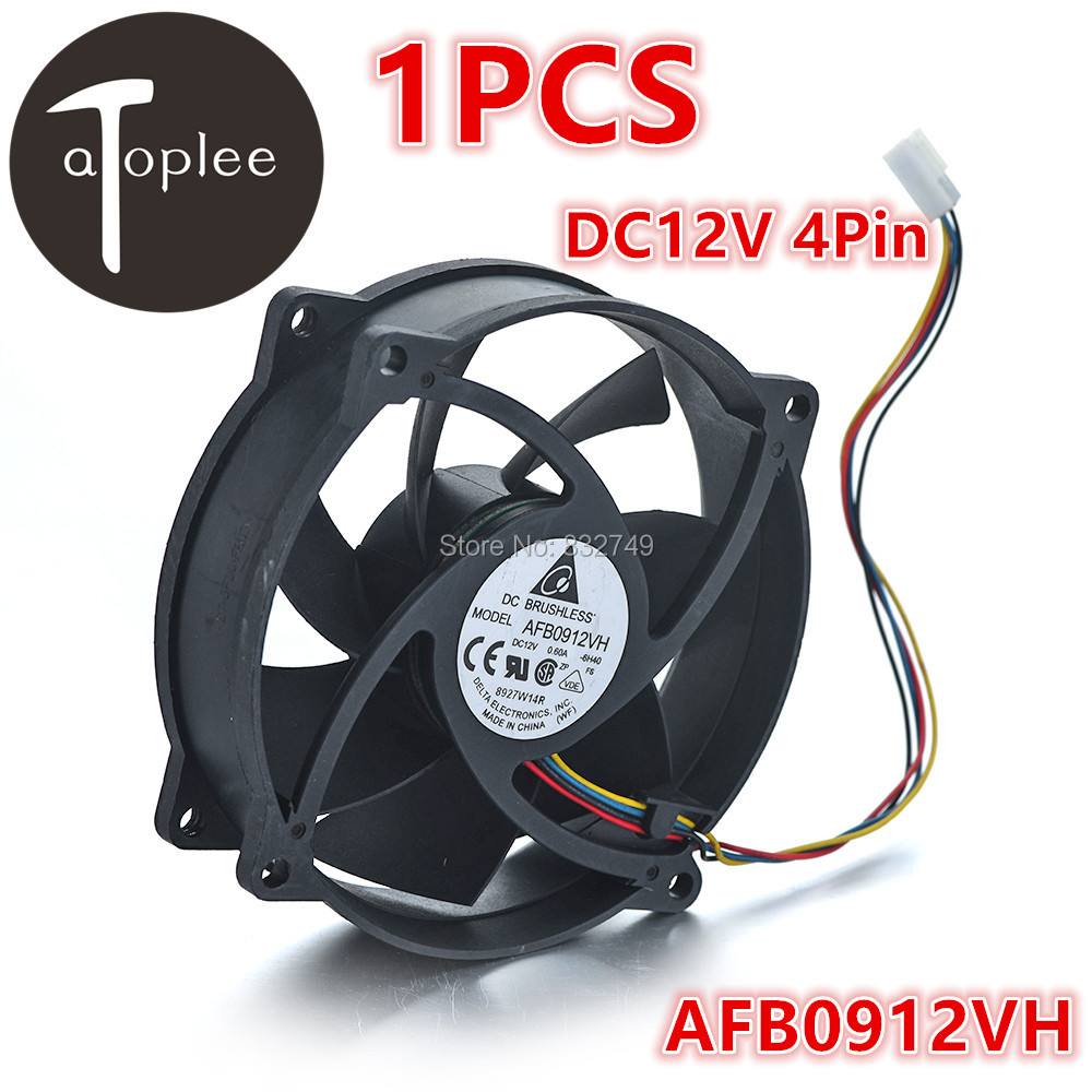 1PCS DC12V 0.6A 4Pin Brushless Fan Fire-retardant Material 92*92*25mm For Cooling CPU Computer Cooler Fan