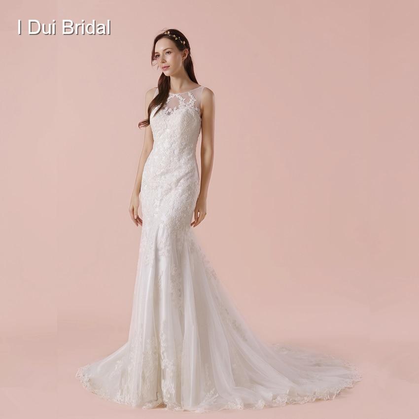 Aliexpress.com : Buy Sleeveless Sheath Wedding Dress With