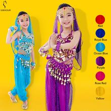 Kids Belly Dance Costume Set 2019 New Indian Bollywood Oriental Egypt Belly Dance Dress For Girls Bellydance Top Pants 6 Colors