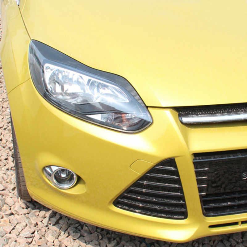 1 par, lámpara de capó para coche, ceja, pegatina de fibra de carbono, decoración, pegatinas y calcomanías para coche, accesorios para Ford Focus 3 mk3