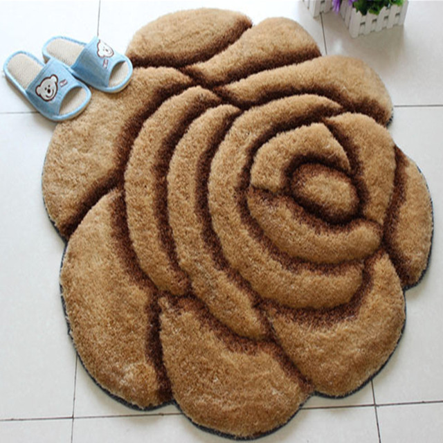 Plus chaud 90X90 cm tapis 3D Style Rose moderne tapis pour salon et ...