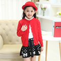Korean Style Bowknot Baby Girl Sweater Cardigan Fashion Three-dimensional Dots Knitted Sweater Sweet Princess Kids Girl Clothing