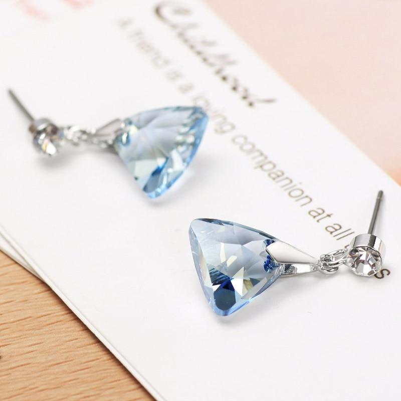 Neoglory Blue Authentic Austria Crystal Charm Drop Earrings Drop - Perhiasan fesyen - Foto 3