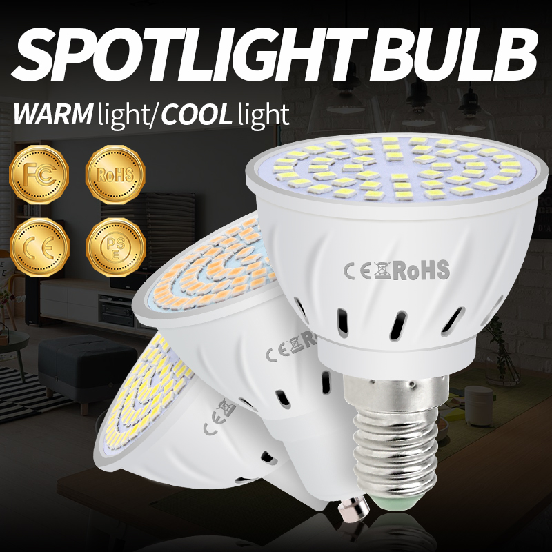 GU10 LED GU5.3 Spotlight Bulb MR16 Lamp E27 220V Lampadas Led E14 Bombillas Gu 10 Spot Light 48 60 80leds B22 Lights Bulb 2835