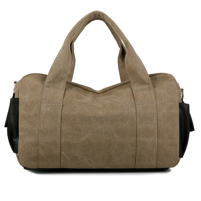 Aosbos Canvas Gym Bag Men Women Sports Bag for Fitness Outdoor Traveling Handbags Durable Multifunctional Training