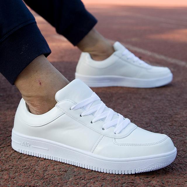 YEALON Original Mens Skateboard Shoes White Sneakers