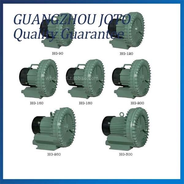 220V 19M3/H Turbine Blower Vacuum Pump High Quality Air Blower Model:HG-160 15 2m3 h vacuum blower high pressure turbine blower industry air pump model hg 120