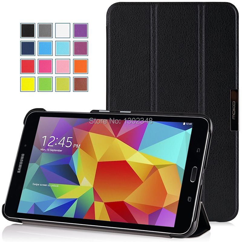 Lightweight Wake/Sleep Stand Case Ultra Slim MagSmart PU Leather Tablet Funda Cover for Samsung Galaxy Tab 4 7.0 T230 T231 T235 ...