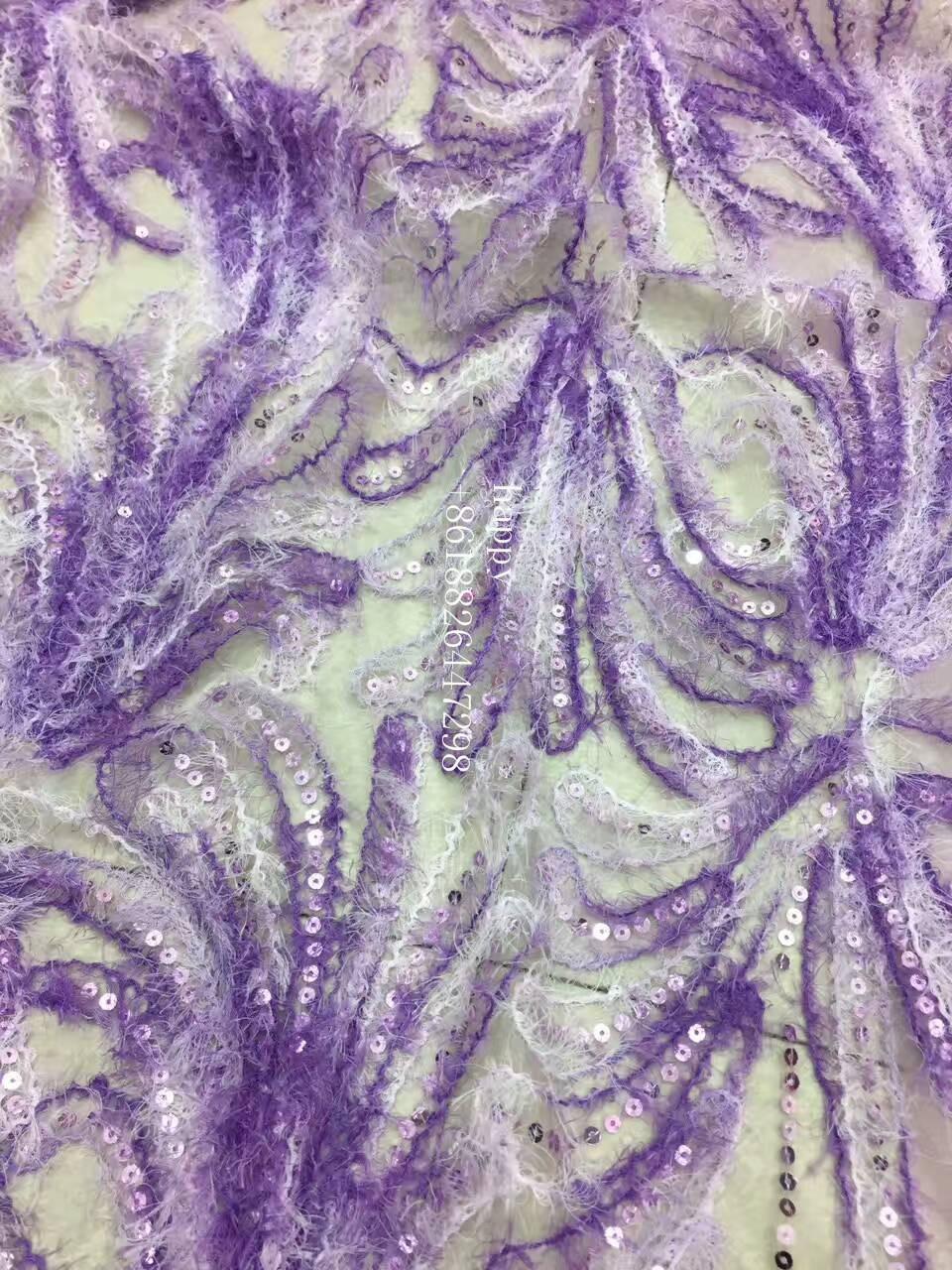 Фиолетовый желтый розовый перо крыла скороговоркой высокого качества полиэстер вышивка французский чистой тюль сетки кружева для свадьбы/... ...
