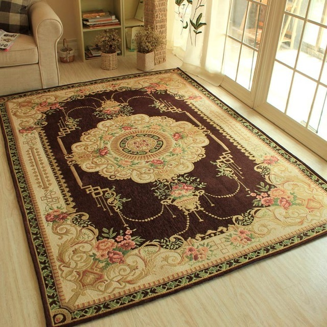 Colorful Retro Patterned Bedroom Carpet