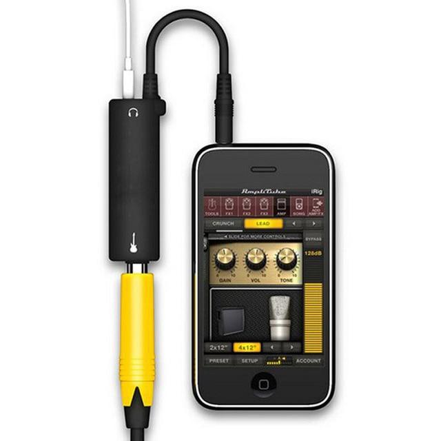 Rig גיטרה קישור אודיו ממשק כבל AMP מגבר אפקטי דוושת מתאם מקלט מערכת ממיר עבור iPhone iPad iPod