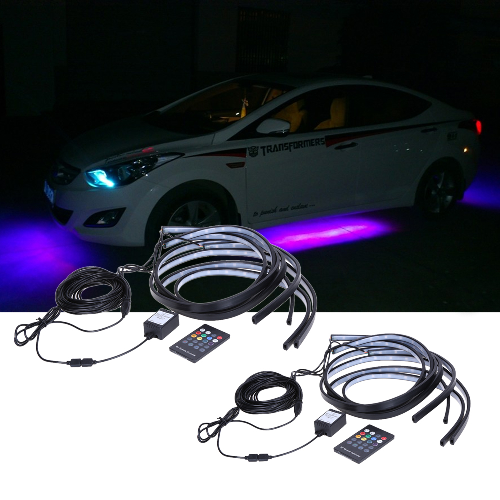 Newest High Power Rgb Colorful Flash Strobe Underbody Flexible Glow Lighting Wiring System Led Strip Lights Tube Light Under Base Car In From Automobiles