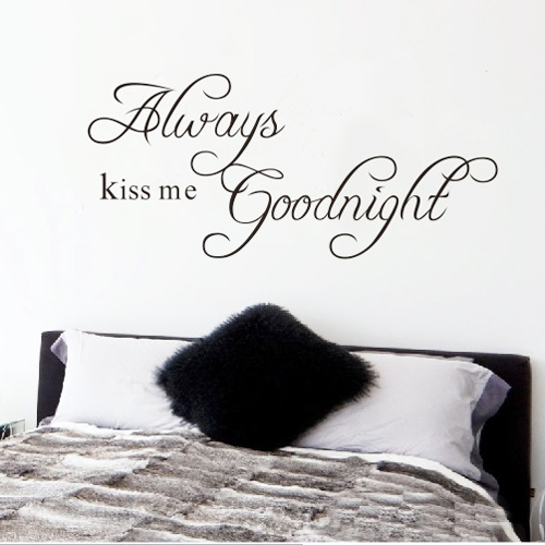 Free Shipping 22 8 x 10 2 Always Kiss Me Goodnight DIY Removable Art Vinyl Quote