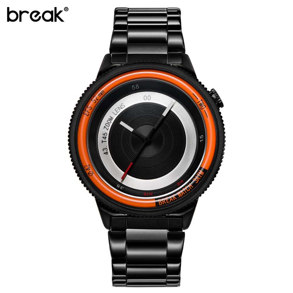 Break Brand Original New Unique Luxury Men Women Unisex Fashion Casual Sports Cool Quartz Camera Photographer Creative Watches break photographer series unique camera style stainless strap men women casual fashion sport quartz modern gift wrist watches