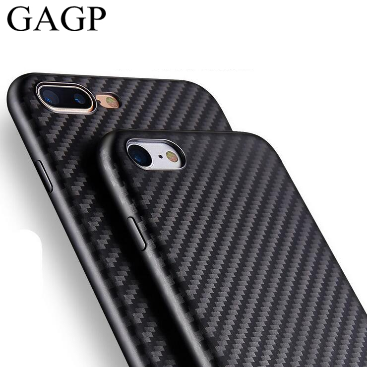 for iphone 6 iphone 6s Plus Case 7 8 Silicone Thin Soft Back Cover Black Carbon Fiber Case for iphone 7 Plus iphone 8 plus case