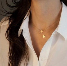 2018 Hot Double Layered Gold Sequin Double Strand Necklace for women ,Layering Disc , Boho Necklace, Beach Jewelry wholesale(China)