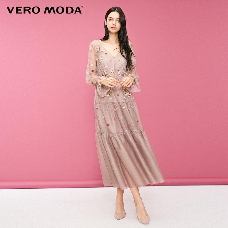 Vero moda Two-piece Imprimir Mangas Vestido Maxi/Vestido Longo 2019   31847D518