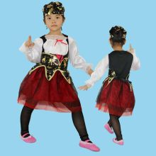 Kids Girls Pirate Costume Cosplay Jewelry set Halloween Costumes for Children Christmas New Year Purim For Kids(China)