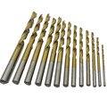 13 pcs Brocas Hss Torção Broca de Titânio Metric 1.5-6.5mm Micro Mini Brocas Brocas de Madeira de Metal Carpintaria de perfuração de Metais