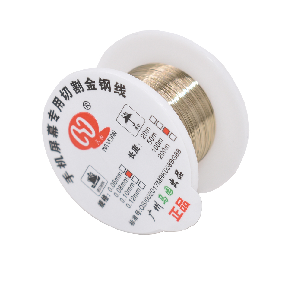 100m roll 0 06mm 0 08mm 0 1mm Alloy Steel Molybdenum Wire Cutting Wire Line LCD