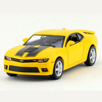 Kinsmart Scale 1 38 Simulation Camaro Car Toy Miniature Alloy Doors Openable Model Cars Toys For