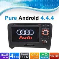 (4 ядра, 16 ГБ INAND флэш) чистый андроид 4.4 dvd плеер автомобиля Авто Радио для Audi TT (2006 2012)
