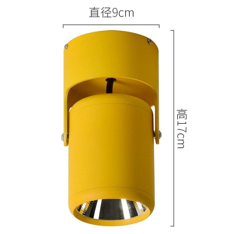 180 graus rotação lâmpada do teto led