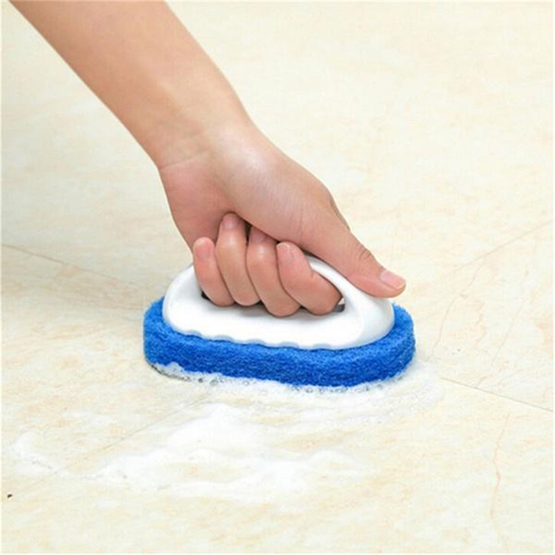 New Handle Cleaning Brush Sponge For Kitchen Effective Remove Stains Stove Bathroom Bathtub Cleaning Floor Cleaning Brushes
