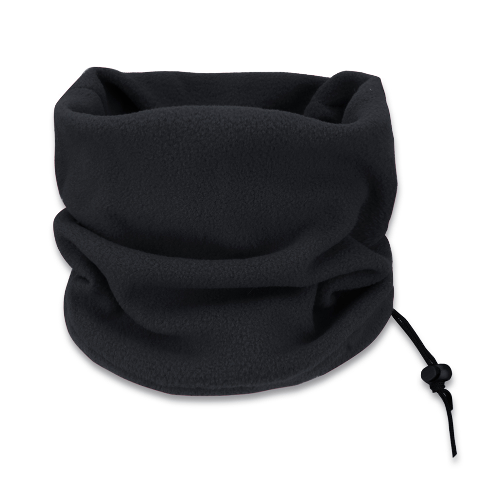 iEFiEL Hot Unisex 3-in-1 Multipurpose Polar Fleece Snood Hat Women Men Neck Warmer Wear with Drawstring Gaiter Scarf Mask Beanie