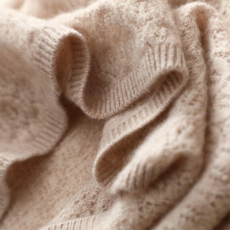 Automne 100 Robes Dames Lâche cou Chandail Confortable Pur Robe Nouveau Creux Pulls Cachemire O beige Gray Out Tricoté Sexy rxArgq