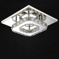 Modern LED Ceiling Light Square Crystal Ceiling Lights Stainless Steel Luminaria 5730 Led Lamps For Home Bedroom Corridor Lamps