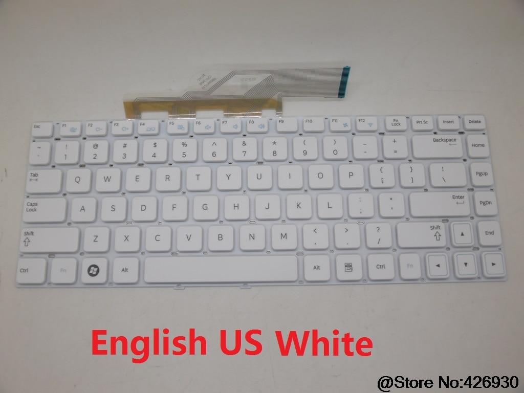 Laptop Keyboard for Samsung NP300E4A NP300V4A NP305E4A NP300E4C 300E4A 300V4A 305E4A 300E4C English US BA59-03111B 9Z.N5PSN.60K V12766OBS1 US White