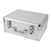 Aluminum suitcase with pre-cut foam