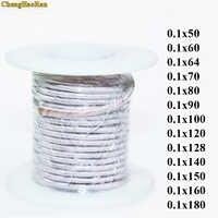 0.1x50 0.1x60 0.1x70 0.1x80 0.1x90 0.1x100 0.1x120 0.1x128 0.1x140 150 160 180 Brins litz fil émaillé polyester fil de cuivre