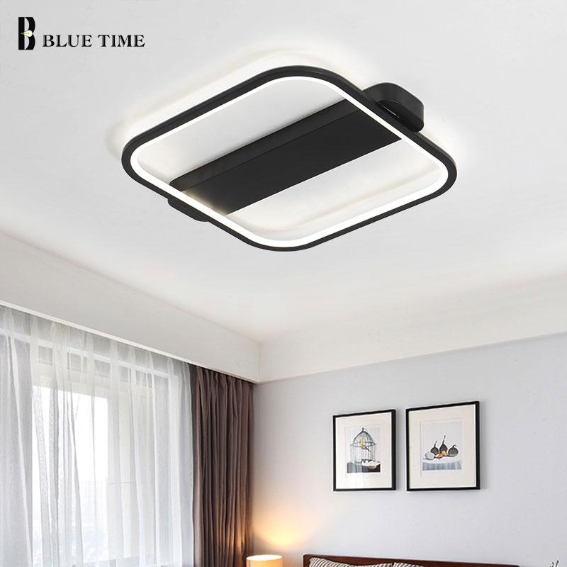 Black White Finished LED Chandelier For Living Room Bedroom Ceiling Mounting Chandelier Lighting For Home Illumination AC85-260V