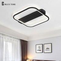 Black White Finished LED Chandelier For Living Room Bedroom Ceiling Mounting Chandelier Lighting For Home Illumination