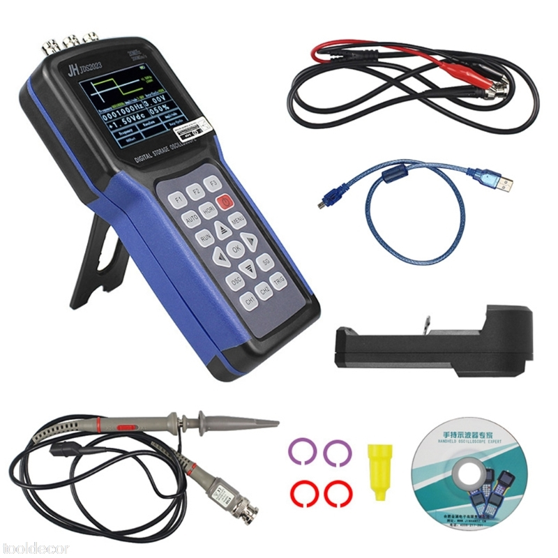 Sans frais de port JDS2023 Numérique De Poche Oscilloscope 1 Canaux 20 MHz Oscilloscope-B119