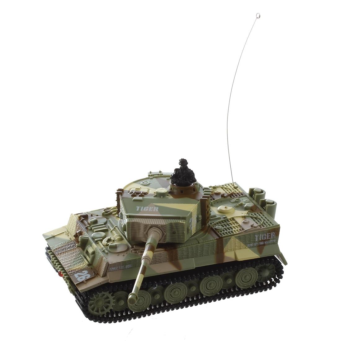 Nouvelle Mini 1: 72 49 MHz R/C Radio Remote Control Char Tigre 20 M Enfants Jouet Cadeau armée (Jaune)