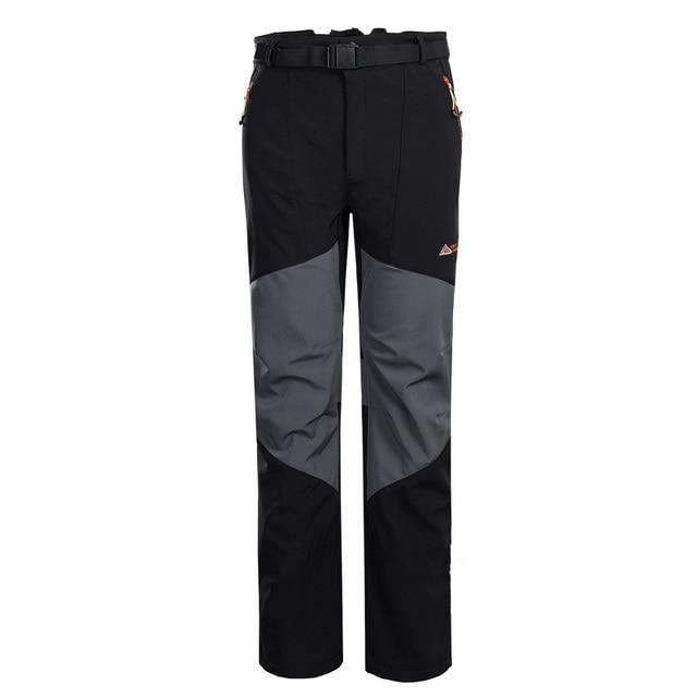 Venta caliente Al Aire Libre Senderismo Impermeable A Prueba de Viento Pantalones Transpirable Doble Color Fleece Softshell Hombres Pantalones