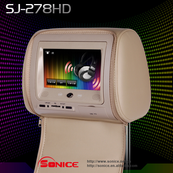 Wholesale/Retail  A Pair 7 inch Car TFT LCD DVD Player with USB,SD+Games+IR+FM+Speaker+3 colors optional Guaranteed 100%