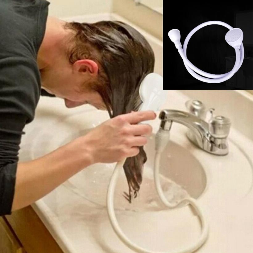 Bathroom Accessories Single Wide Tap Bath Sink Shower Head Spray Hose Push On Mixer Hairdresser Pet 5.25